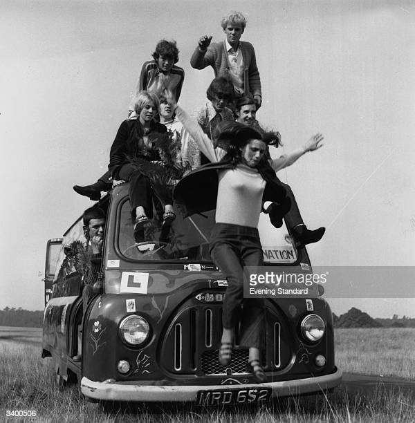 Hippies on their bus