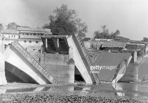 A bridge blown up on the Jessore Road during the IndiaPakistan conflict when India supported East Pakistan's struggle to become the independent state...