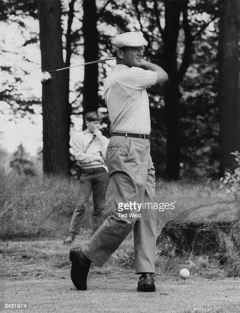 Argentinian golfer Roberto DeVicenzo in action during the Esso Golden £5700 Golf Tournament at Moor Park Rickmansworth