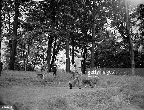 Argentinian golfer Roberto DeVicenzo playing for the Esso Golden Golf Tournament at the Moor Park Club in Rickmansworth Hertfordshire