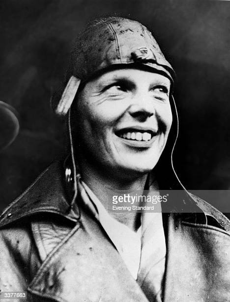 American aviator Amelia Earhart arriving in London having become the first woman to fly across the Atlantic alone