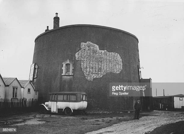One of the Martello Towers at ClactononSea Originally built for defence purposes the building is circular with four rooms a flat observation roof and...