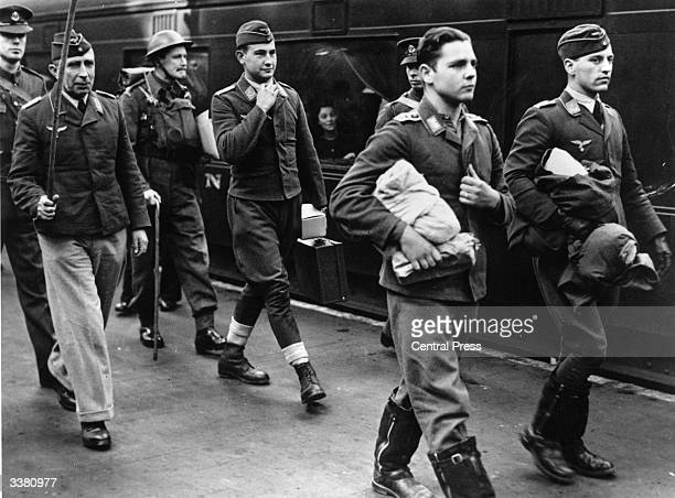 German Luftwaffe prisoners on their way to an internment camp