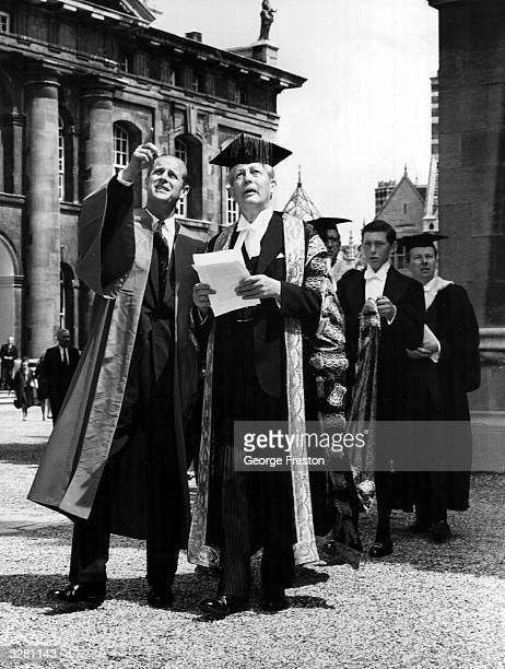 HRH The Duke of Edinburgh visits St Catherine's College Oxford and receive an honorary degree of Doctor of Civil Law