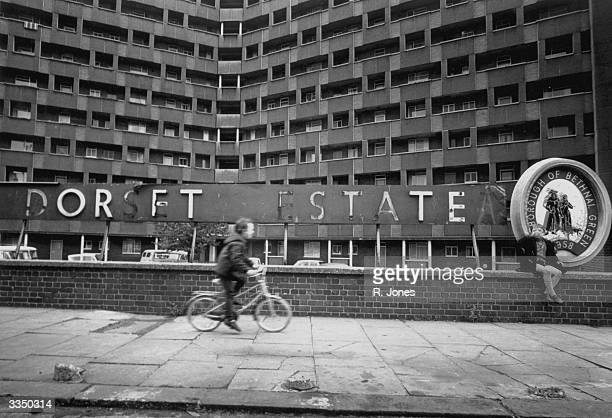 The Dorset Estate in Bethnal Green London a high rise residential towerblock