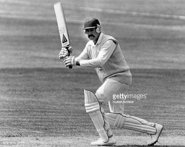 Essex cricketer Graham Gooch during a game