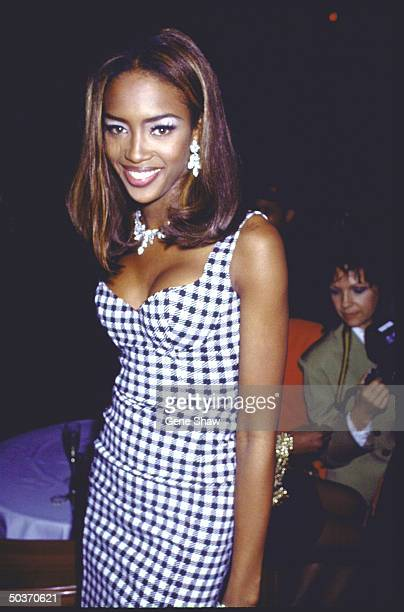 Model Naomi Campbell at her 21st birthday party