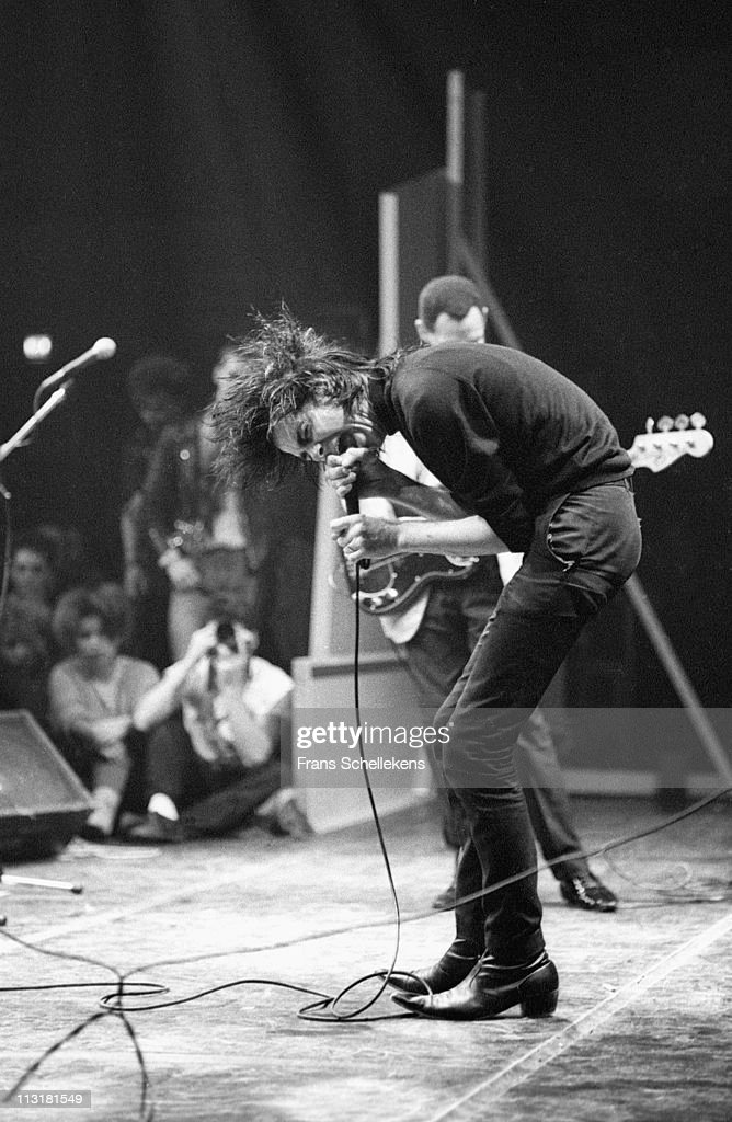 Nick Cave sings at de Meervaart in Amsterdam Netherlands on 22nd November 1984