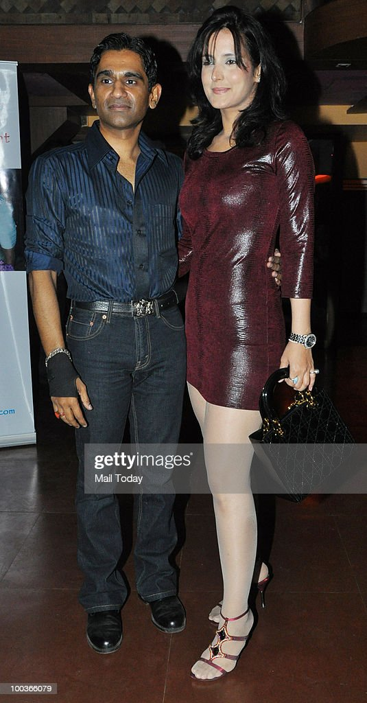 Tulip Joshi with a friend at an event in Mumbai on May 22, 2010.