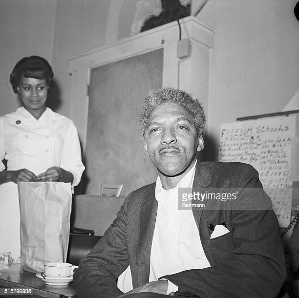 2/3/1964Bayard Rustin Civil rights leader seated