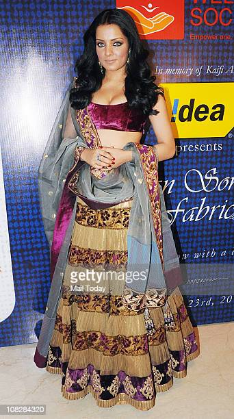 Celina Jaitley during Shabana Azmi's Charity Show 'Mizwan' which is an Welfare Society run by her at Trident Bandra Kurla Mumbai