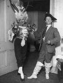 Will Evans and Stanley Empire rehearsing for a Drury Lane Pantomime