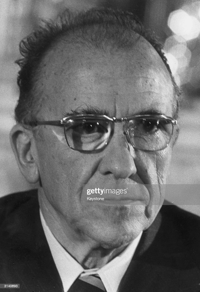 Santiago Carrillo Secretary of the outlawed Spanish Communist party who has been arrested in Madrid