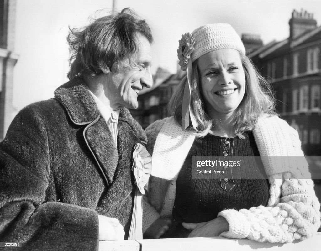 Actress Honor Blackman lends support to the Liberal Party as she joins Johnnie Savile, brother of broadcaster Jimmy and candidate for Battersea North, London, on a canvassing tour of the constituency.