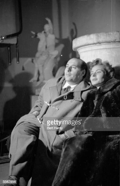 Swedish actress Ingrid Bergman with her husband film director Roberto Rossellini Original Publication Picture Post 6514 Ingrid Bergman's Story pub...