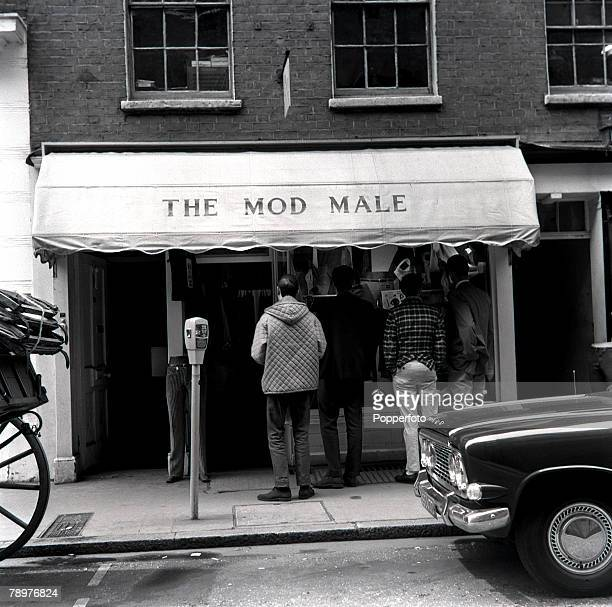 23rd May 1964 View of the Mods 'Saville row' Carnaby street in the London's Soho W1