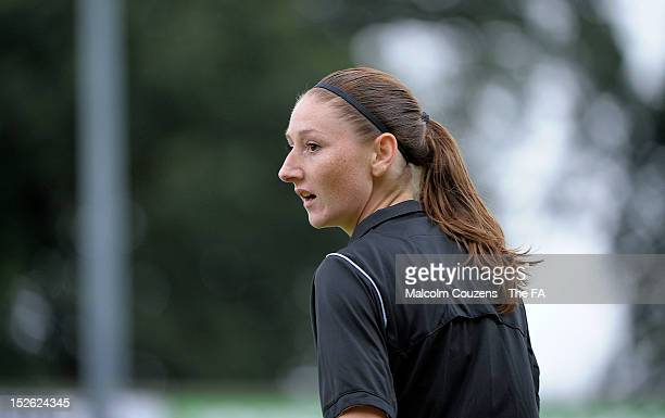 Referee Sian Massey during the FA Womens Super League football match between Lincoln Ladies and Everton Ladies on September 23rd 2012 in Lincoln...
