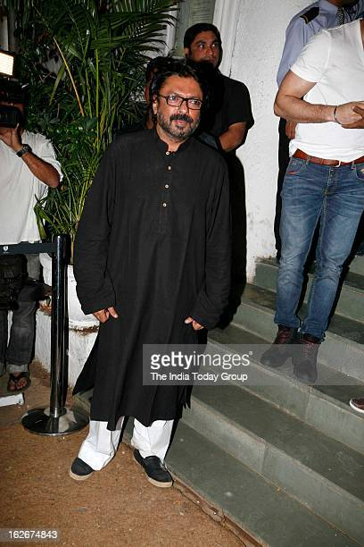 Sanjay Leela Bhansali at his birthday bash held at Olive in Mumbai on February 24 2013