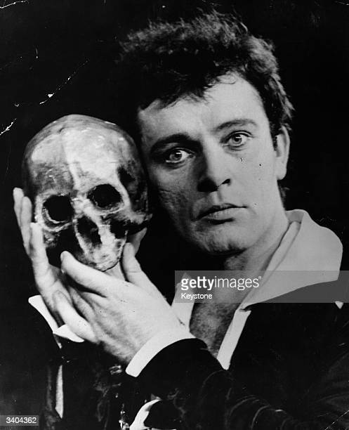 Welsh film and stage actor Richard Burton takes the lead in the Old Vic production of Shakespeare's 'Hamlet' at the Assembly Hall Edinburgh during...
