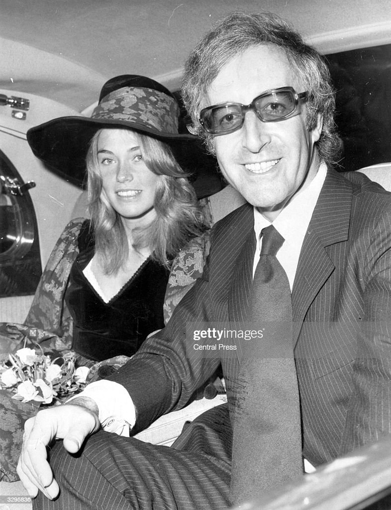 British comic actor Peter Sellers, leaving Caxton Hall Registry Office with his third wife, Miranda Quarry.