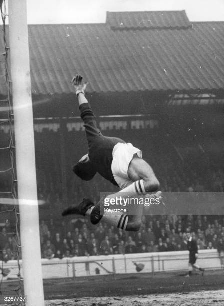 Peter Bonetti goalkeeper for Chelsea in action during a match against Manchester United at Stamford Bridge London