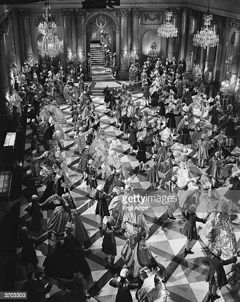 A ballroom scene from the MGM prestige movie 'Marie Antoinette' directed by William S Van Dyke