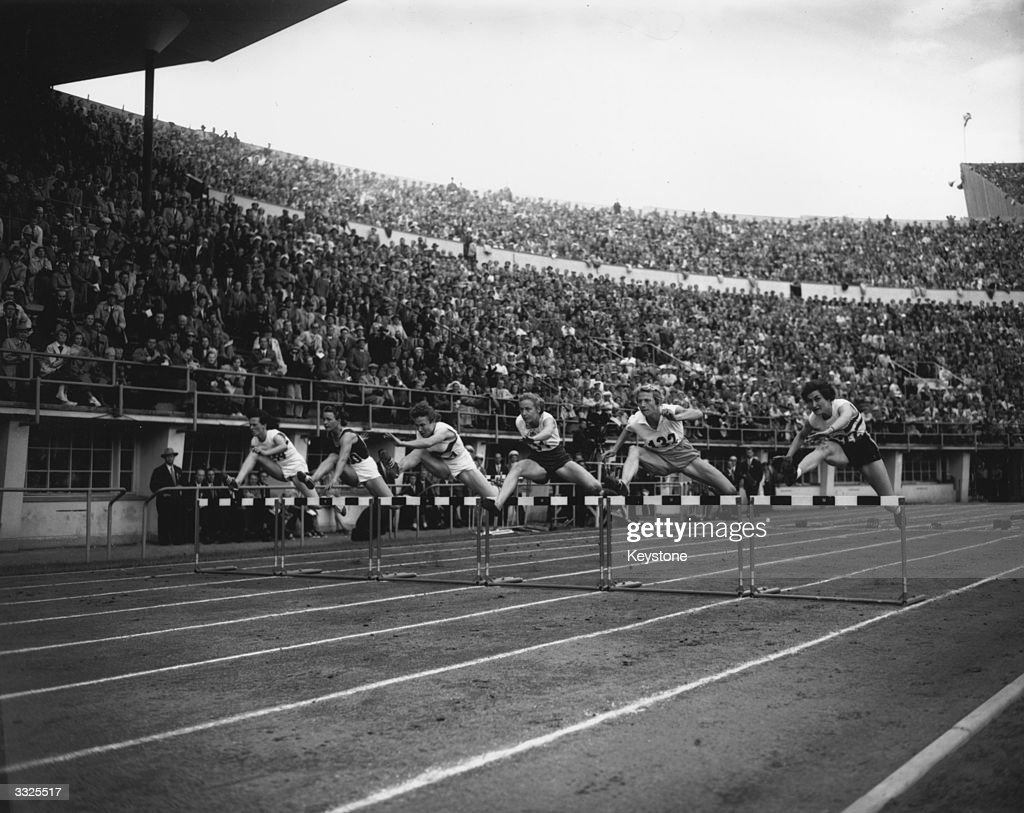 The Final Of Womens 80 Metres Hurdles During Olympic Games At Helsinki From
