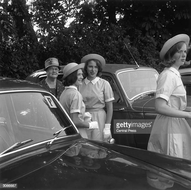 Princess Anne attends her first speech day and prizegiving ceremony at Benenden School at the end of the academic year She and a schoolfriend wait...
