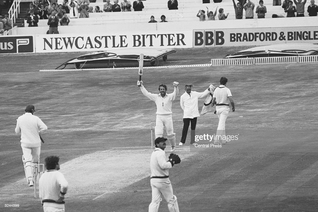 England wins the third test match against Australia in the 1981 series at Headingley after following on