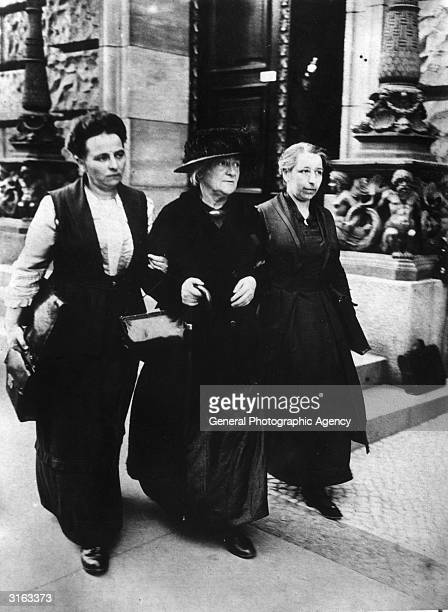 German marxist and feminist politician Clara Zetkin on her way to the first sitting of the new Reichstag where she will represent the Communist Party