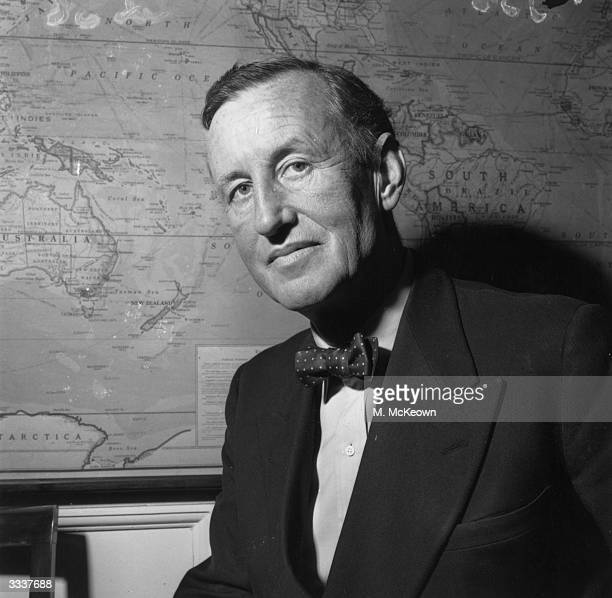 English novelist Ian Fleming best known for his character James Bond