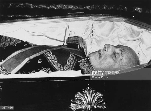 Francisco Franco Spanish general and dictator who governed Spain from 1939 to 1975 lies in state at the Pardo Palace in Madrid