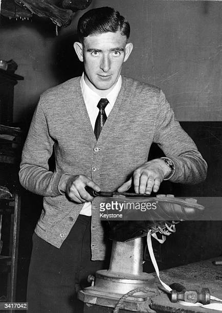 Footballer Danny Blanchflower just before his move to Tottenham Hotspurs where he went on to become captain He was voted Footballer of the Year in...