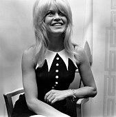 Film star Brigitte Bardot on a visit to England