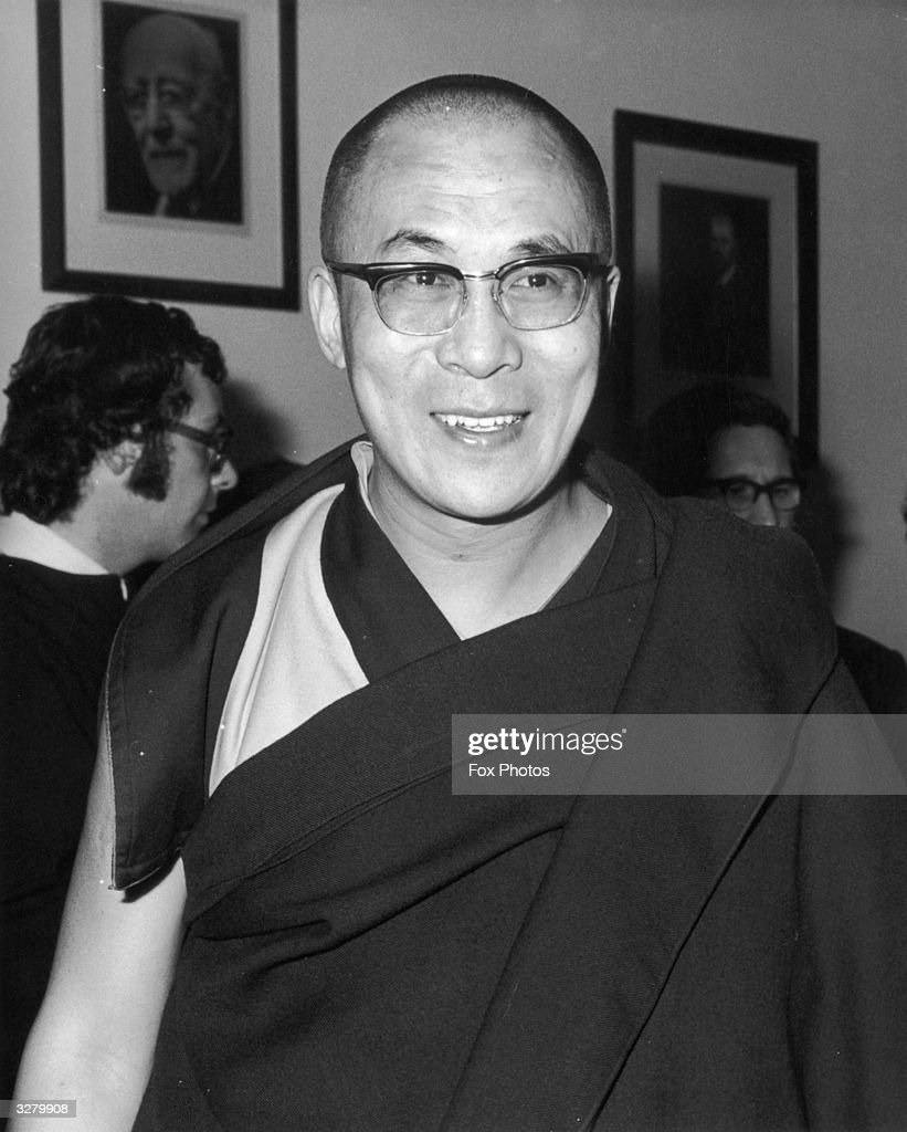 His Holiness the Dalai Lama after preaching at the Service for All Faiths, in London.