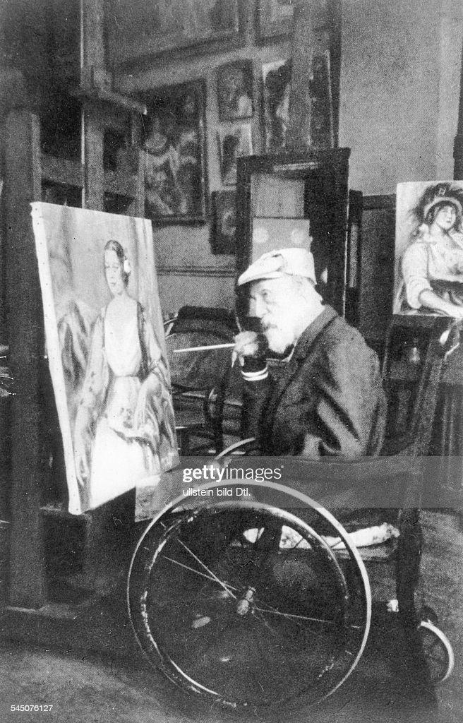 Bildender Künstler, Maler, FrankreichPorträt in seinem Atelier- um 1914