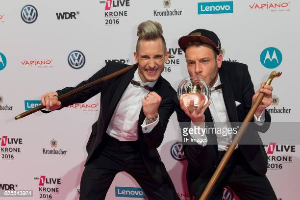 257ers celebrate their award after the 1Live Krone at Jahrhunderthalle on December 1 2016 in Bochum Germany