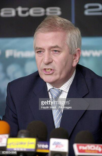 Minister for Finance Charlie McCreevy announcing his prebudget estimates for 2004 at the Ministry of Finance Dublin Ireland Mr McCreevy stressed the...