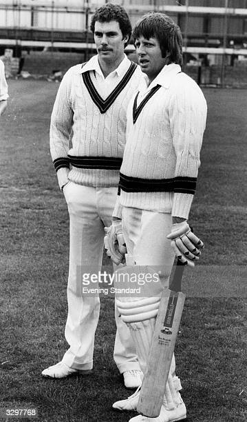 Cricketers Greg Chappell and Jeff Thomson