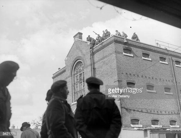 A rooftop rebellion at Army detention blocks near Aldershot