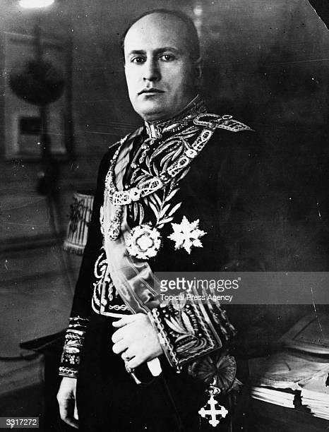 Italian dictactor Benito Mussolini in ministerial garb