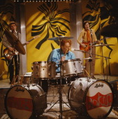 British rock group Cream perform the song 'I Feel Free' on BBCTV show 'Top Of The Pops' in London on 25th January 1967 Left to right bassist Jack...