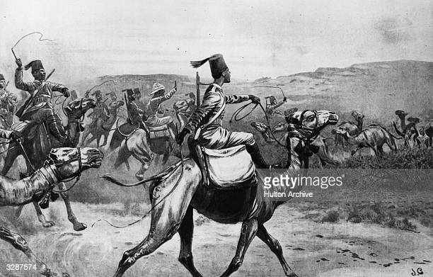 Camelriding army on the move in Somaliland Original Publication The Graphic pub 1903