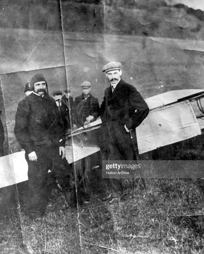 Louis Bleriot (1872 - 1936) arrives in Dover after flying the Channel, the first man to do so. His plane is the Bleriot Mk XI 24-h.p.version.