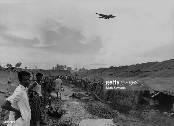 Refugees from Pakistan in Salt Lake Camp near Calcutta Airport in India
