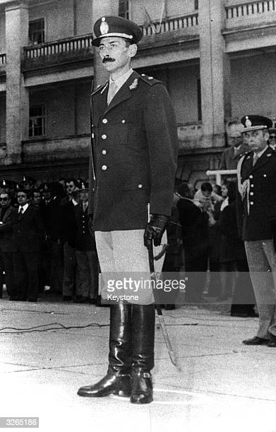 General Jorge Videla one of the new military rulers who is involved in the coup to overthrow president Maria Estela Peron in Argentina and is...