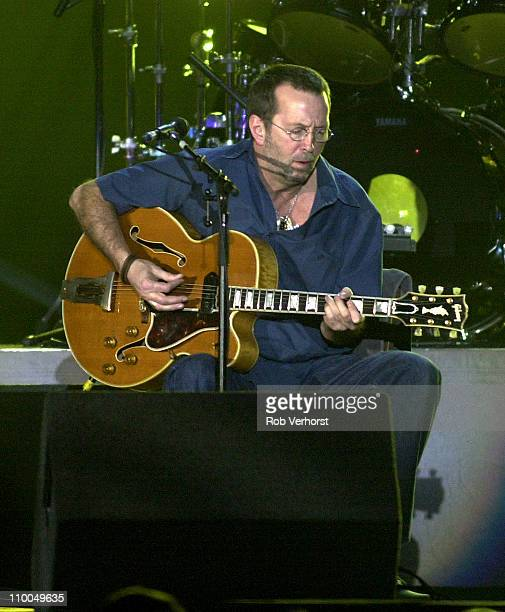 Eric Clapton performs live on stage at Ahoy in Rotterdam Netherlands on 25th March 2001