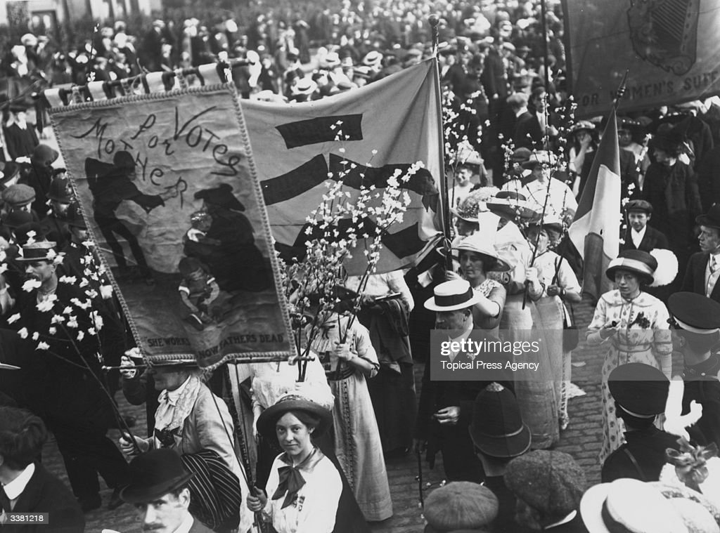 A suffragette demonstration in London's Victoria Park