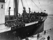 4200 Basque children arrive at Southampton aboard the liner Habana having been rescued from the horrors of the Spanish Civil War They will be housed...