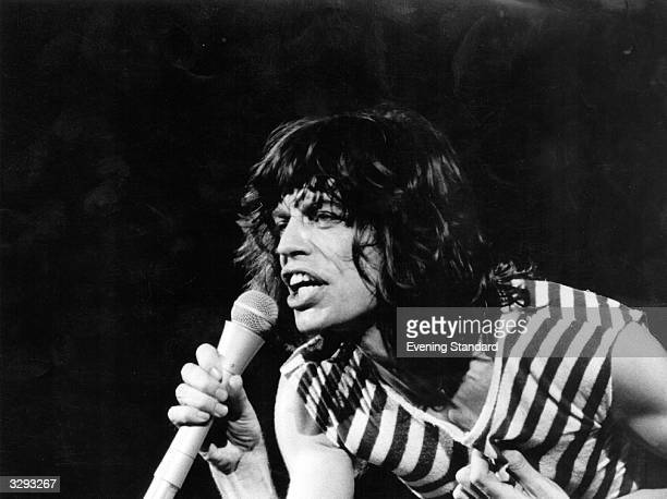 Rolling Stones lead singer Mick Jagger during a concert in 1976